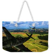 Swatting Down A Swallow - Oil Weekender Tote Bag