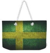 Sweden Distressed Flag Dehner Weekender Tote Bag