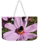 Sweet Bee On Pink Cosmos - Digital Art Weekender Tote Bag