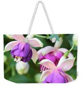 Sweet Fuchsia Flowers Weekender Tote Bag