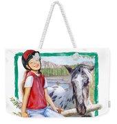Sweet Girl Weekender Tote Bag