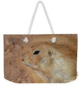 Sweet Profile Of A Prairie Dog Playing In Dirt Weekender Tote Bag