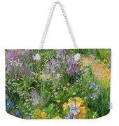 Sweet Rocket - Foxgloves And Irises Weekender Tote Bag