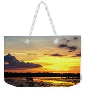 Drawin The Fish At Last Light Weekender Tote Bag