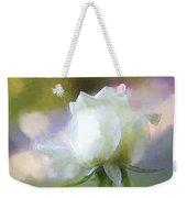 Sweet White Rose Weekender Tote Bag