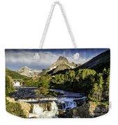 Swiftcurrent Falls Glacier Park 3 Weekender Tote Bag