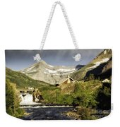 Swiftcurrent Falls Glacier Park Weekender Tote Bag