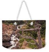 Swiftcurrent Lake Falls Weekender Tote Bag