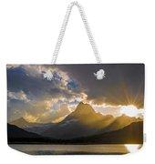 Swiftcurrent Lake Sundown Glacier N P Weekender Tote Bag
