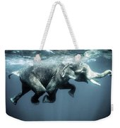 Swimming Elephant Weekender Tote Bag