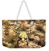Swimming Frog Weekender Tote Bag
