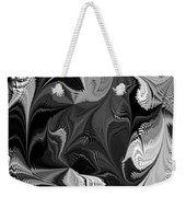 Swimming In Black And White - Abstract Weekender Tote Bag