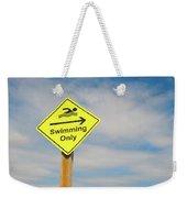 Swimming Sign Weekender Tote Bag