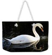 Swimming Swan Weekender Tote Bag
