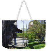 Swing In Spring Weekender Tote Bag