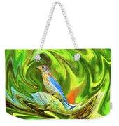 Swirling Bluebird Abstract Weekender Tote Bag