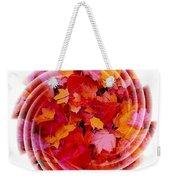 Swirling Colored Leaves Weekender Tote Bag