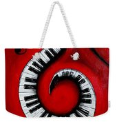 Swirling Piano Keys- Music In Motion Weekender Tote Bag