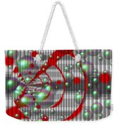 Swirly Red With Bubbles Weekender Tote Bag