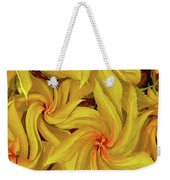 Swirly, Yellow Leaves Weekender Tote Bag