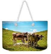 Happy Swiss Cows Weekender Tote Bag