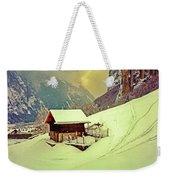 Switzerland Alps Grutschap Alpine Meadow Winter  Weekender Tote Bag