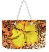 Sycamore Leaf  In Fall Weekender Tote Bag
