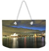 Sydney Harbor At Blue Hour Weekender Tote Bag