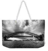 Sydney Harbor Bridge Black And White V2 Weekender Tote Bag