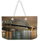 Sydney Harbour At Night Weekender Tote Bag