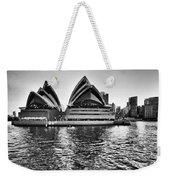 Sydney Opera House-black And White Weekender Tote Bag