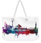 Sydney Skyline City Blue Weekender Tote Bag