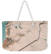 Syria Country 3d Render Topographic Map Neutral Border Weekender Tote Bag