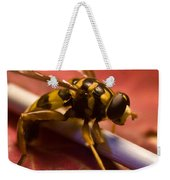 Syrphid Fly Poised Weekender Tote Bag