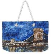 Szechenyi Chain Bridge Budapest Weekender Tote Bag