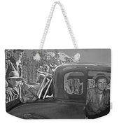 T-04902 Travelling To Climb In Style 1955  Weekender Tote Bag