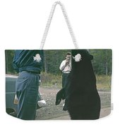 T-203503 Bear Feeding In The Old Days Weekender Tote Bag