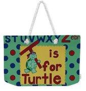 T Is For Turtle Weekender Tote Bag