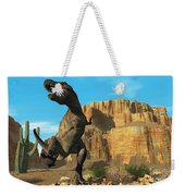 T-rex Weekender Tote Bag by Corey Ford
