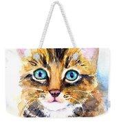 Tabby Kitten Watercolor Weekender Tote Bag