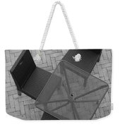 Table Chairs From Above Weekender Tote Bag