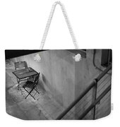 Table For Two Black And White Weekender Tote Bag