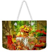 Table For Two In Ambiance Weekender Tote Bag
