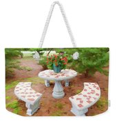 Table In The Garden Weekender Tote Bag
