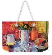 Table Reflections Weekender Tote Bag