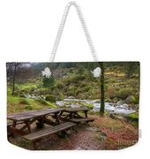 Tables By The River Weekender Tote Bag by Carlos Caetano