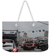 Taganskaya Square In Snow Weekender Tote Bag