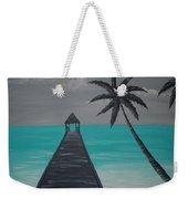 Tahitian Blue Weekender Tote Bag