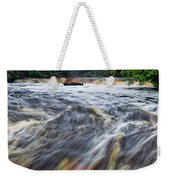 Tahquamenon Lower Falls Upper Peninsula Michigan Vertical 01 Weekender Tote Bag