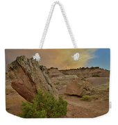 Tail End Of Storm At Sunset Over Bentonite Site Weekender Tote Bag